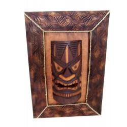 Masque sur cadre sculpté 54x38