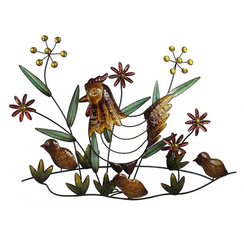 Decoration poule et ses poussins - Poule et ses poussins ...