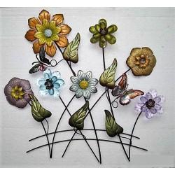 Ensemble de fleurs sur tiges