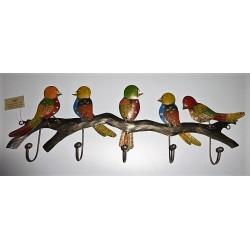 Patère 5 oiseaux