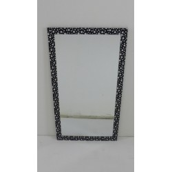 MIROIR RECTANGLE 30x60 NOIR...