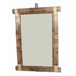 Grand miroir brulé bambou...