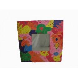 Miroir carre multicolor 40x40