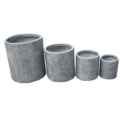 Série de 4 pots cylindrique...