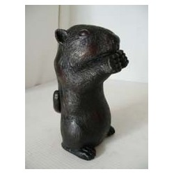 Marmotte assise taille M