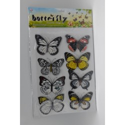 STICKER PAPILLON 8 PCS