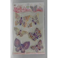 STICKER PAPILLON FLUORESCENT