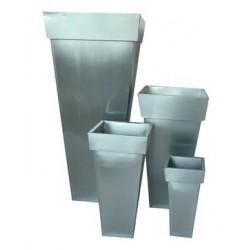 Set de 4 pots en zinc TITANIUM