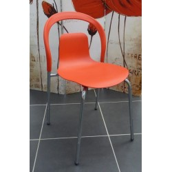CHAISE FORME DESIGN ROUGE
