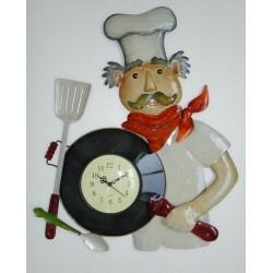 Pendule Cuisinier en métal