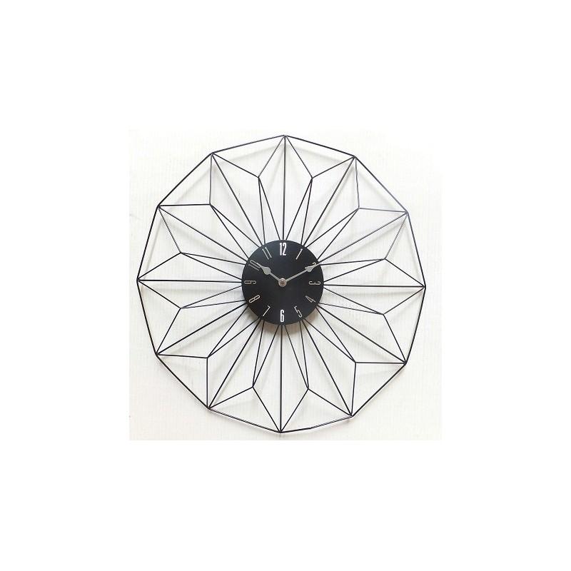 Horloge metal noir design for Horloge metal noir