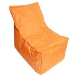 Pouf avec dossier orange taille s - Pouf avec dossier ...