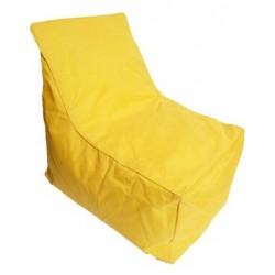 pouf avec dossier jaune taille m. Black Bedroom Furniture Sets. Home Design Ideas