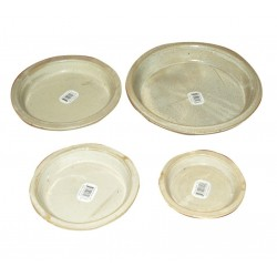 Set de 4 soucoupes jaune