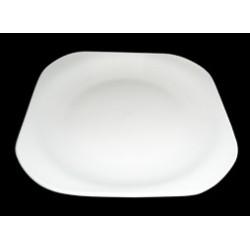 Assiette carré blanche