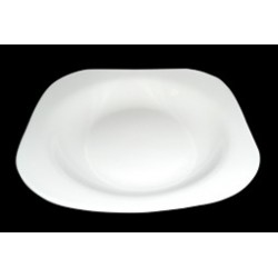 Assiette creuse carré blanche