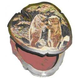 Boite 2 marmottes debout