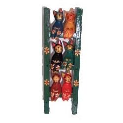 6 chats sur une echelle...